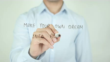 sikerül : Make Your Own Dream Into Reality, Writing On Transparent Screen