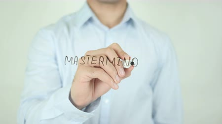 initiator : Mastermind, Writing On Transparent Screen Stock Footage