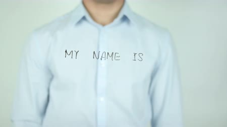 redundancy : My Name is, Writing On Transparent Screen Stock Footage