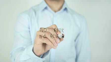 medaille : No Risk No Reward, Schrijven Op Transparent Screen