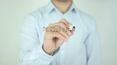 autoridade : Persuasion, Writing On Transparent Screen Stock Footage