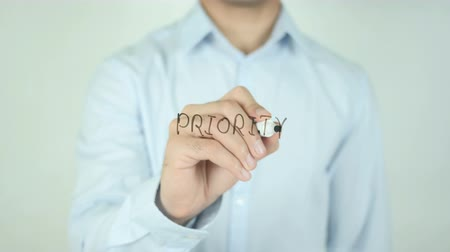 blank : Priority, Writing on Screen Stock Footage