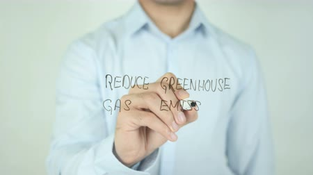 sera : Reduce Greenhouse Gas Emission, Writing On Transparent Screen
