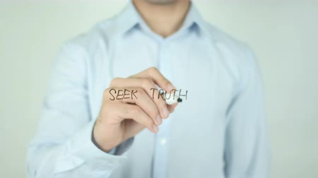 investigar : Seek Truth, Writing On Transparent Screen Vídeos