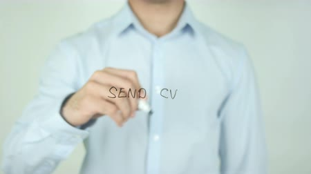 vaga : Send CV, Writing On Transparent Screen