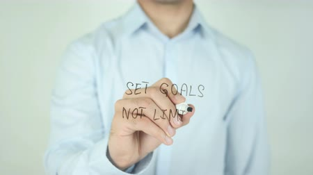 olasılık : Set Goals Not Limits, Writing On Transparent Screen