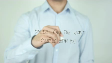 хорошее здоровье : Smile And The World Smiles With You, Writing On Transparent Screen