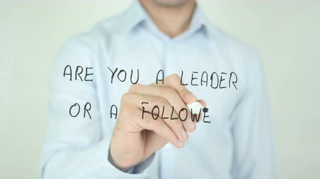 itaatkâr : Are You a Leader or a Follower ?, Man Writing on Screen