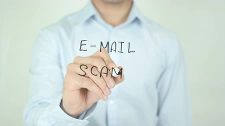 sturen : E-mail scam Stockvideo