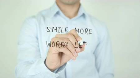 cytat : Smile More Worry Less, Writing on Screen
