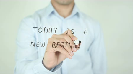hoje : Today is a New Beginning, Writing on Screen