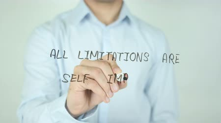 suceder : All Limitations Are Self Imposed, Writing On Transparent Screen Vídeos