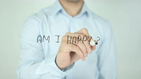 olá : Am I Happy?, Writing On Transparent Screen Stock Footage