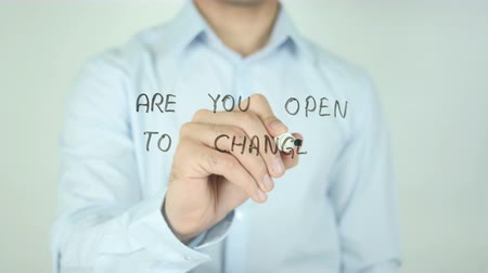 zmiany : Are You Open to Change ?, Writing On Transparent Screen