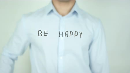 hippie : Be Happy, Schrijven Op Transparent Screen