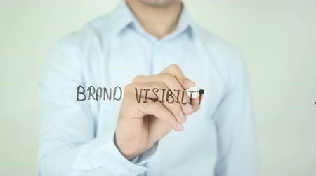 promover : Brand Visibility, Writing On Transparent Screen Stock Footage