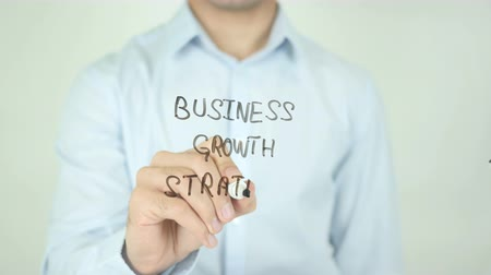 crescimento : Business Growth Strategy, Writing On Transparent Screen