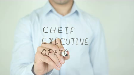 dyrektor : Chief Executive Officer, CEO, Writing On Transparent Screen Wideo