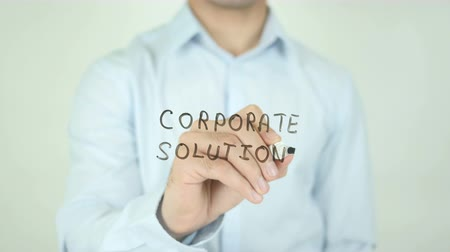yeniden yapılanma : Corporate Solutions, Writing On Transparent Screen