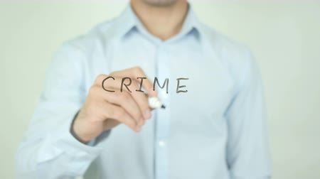 investigador : CRIME, Writing On Transparent Screen Stock Footage