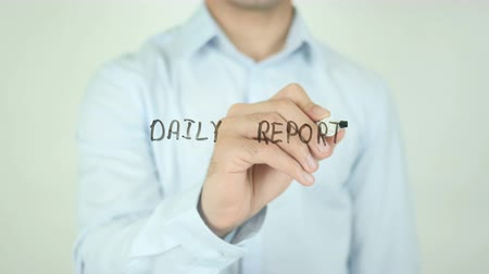 публиковать : Daily Report, Writing On Transparent Screen