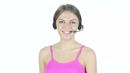 индикатор : Smiling Call Center Girl, Customer Service Concept