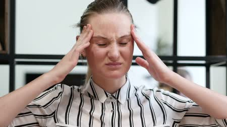 healthy office : Tense Woman with Headache, Frustration