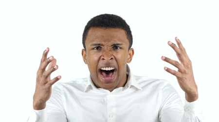 aggression : Angry Black Man Yelling