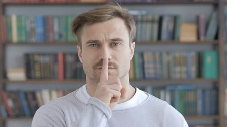 kept : Silent, Silence Gesture by Adult Man
