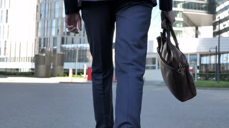 bankier : Back view of Legs and Handbag Wideo