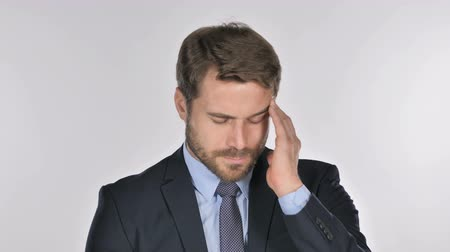 disturbed : Portrait of Businessman Gesturing Headache, Stress