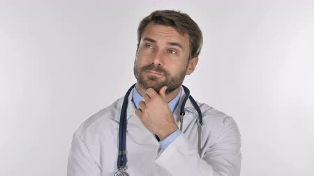 physician : Portrait of Doctor Thinking, Brainstorming