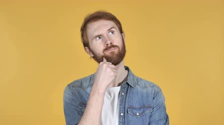 contemplative : Man thinking Redhead Stock Footage