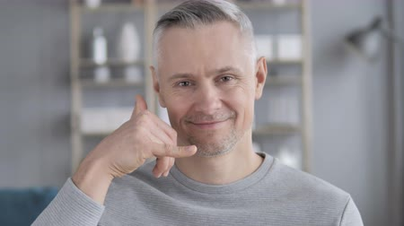 телефон доверия : Gray Hair Man Gesture for Help, Contact Us, Call me
