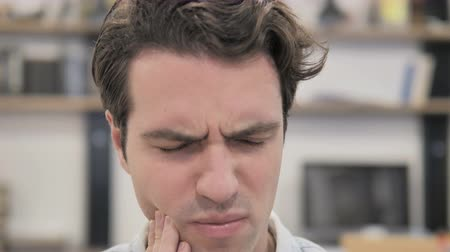 Close Up of Casual Man with Toothache, Infection