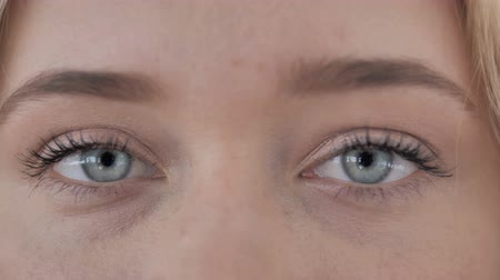 Blinking Eyes Of Young Woman