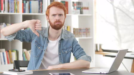 polegar : Thumbs Down by Casual Redhead Man at Work