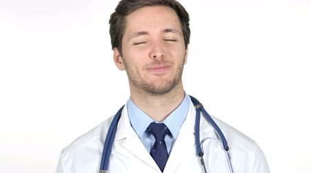admiracion : Portrait of Doctor Shaking Head to Accept Yes