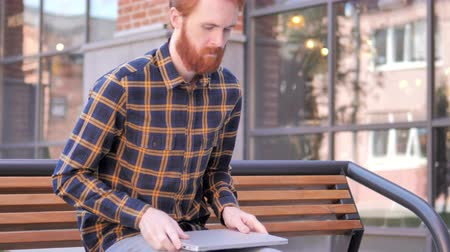 coming home : Redhead Beard Man Using Laptop