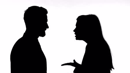 slapping : Silhouette of Woman Slapping Partner While Fighting