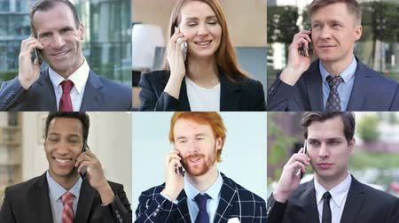 a böngésző : Collage of Business People Talking on Phone