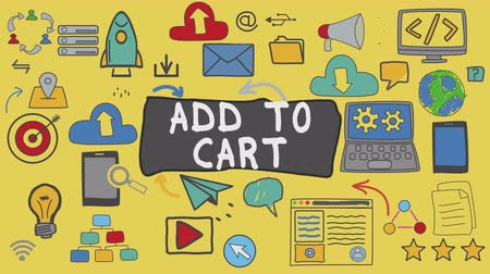 add to cart : Add to Cart, Illustration Graphic Technology Concept Stock Footage