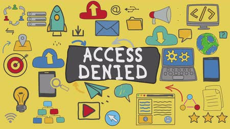 denied : Access Denied, Illustration Graphic Technology Concept