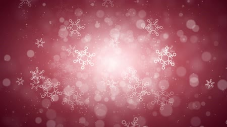 minimalista : Natale Rosso Snowflake Background, Looped