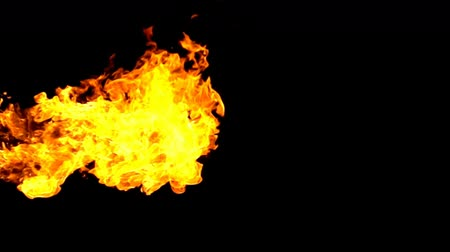 fireball : Fire burning on black background slow motion