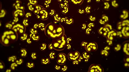 полый : Halloween Background, Looped. Jack-O-Lantern Halloween Pumpkin with scary face background.