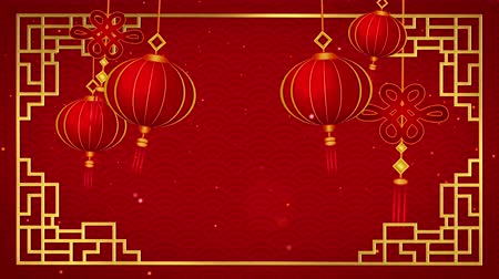 pingente : Happy chinese new year 2019 with pendants on red background looped