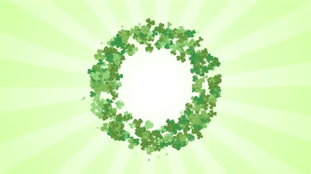 ayrılmak : St. Patricks day clover leaf background, looped.