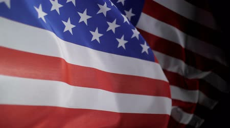 president of united states : American flag waving slow motion for Independence Day or Memorial Day. Stock Footage
