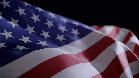 Close up of American flag slow motion.